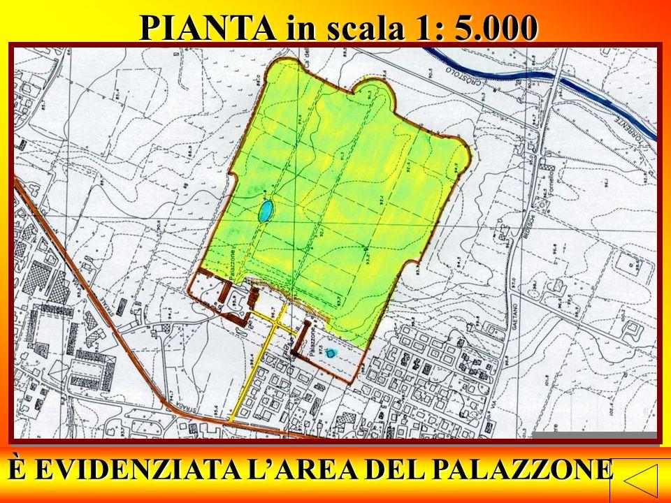 È EVIDENZIATA L'AREA DEL PALAZZONE