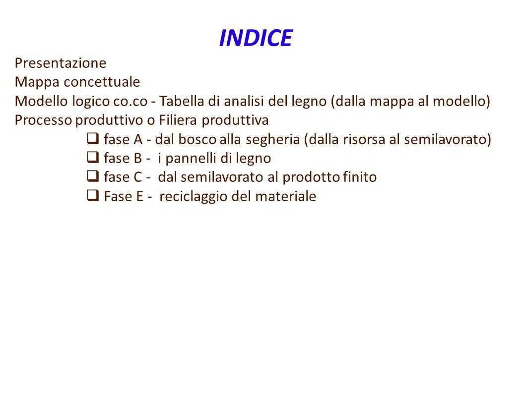 INDICE Presentazione Mappa concettuale