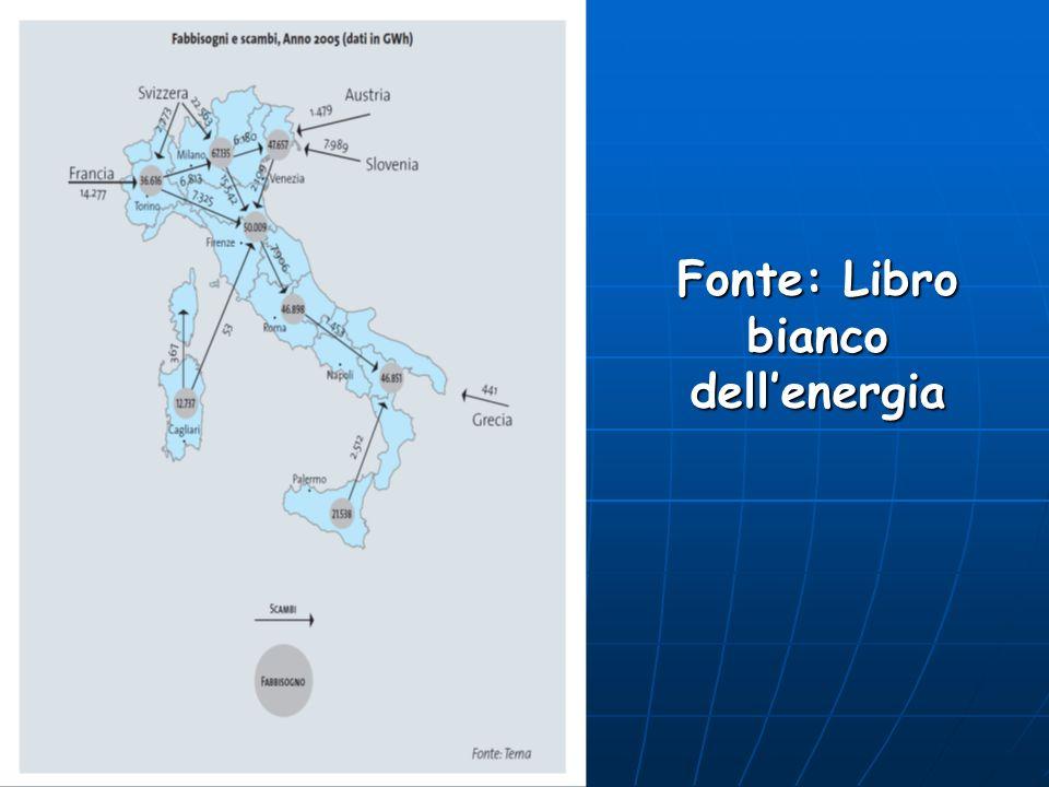 Fonte: Libro bianco dell'energia
