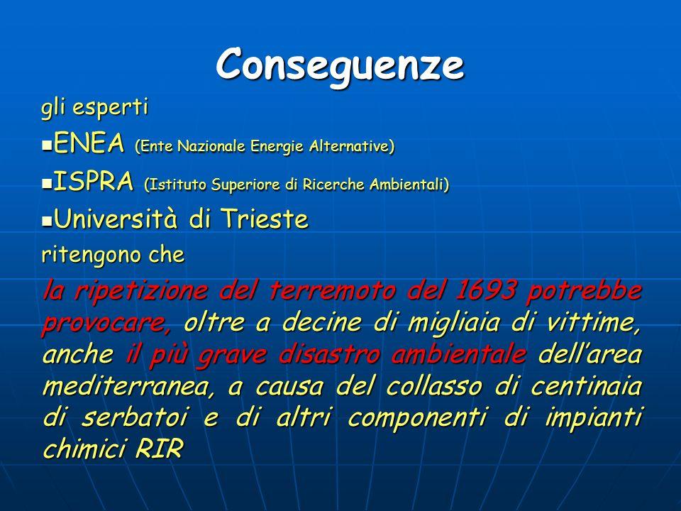 Conseguenze ENEA (Ente Nazionale Energie Alternative)