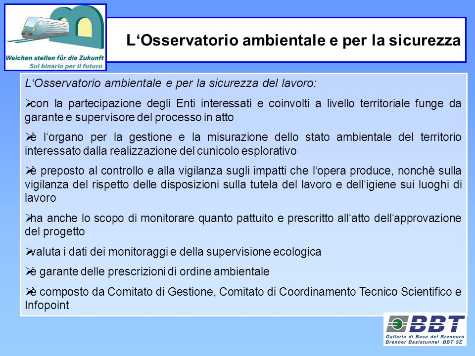 L'Osservatorio ambientale e per la sicurezza