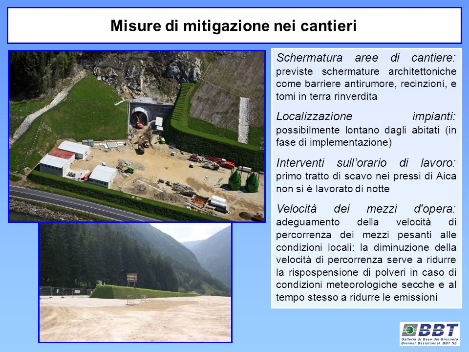 Misure di mitigazione nei cantieri
