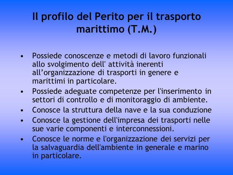 Il profilo del Perito per il trasporto marittimo (T.M.)