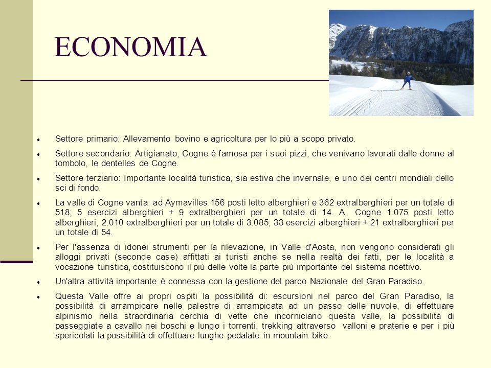 ECONOMIA Settore primario: Allevamento bovino e agricoltura per lo più a scopo privato.