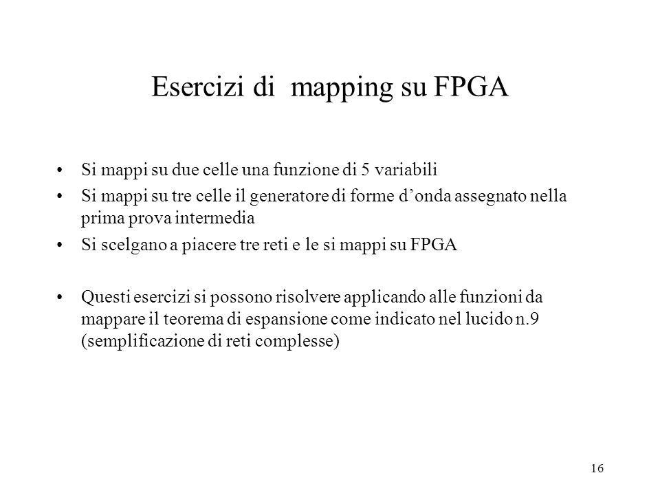 Esercizi di mapping su FPGA