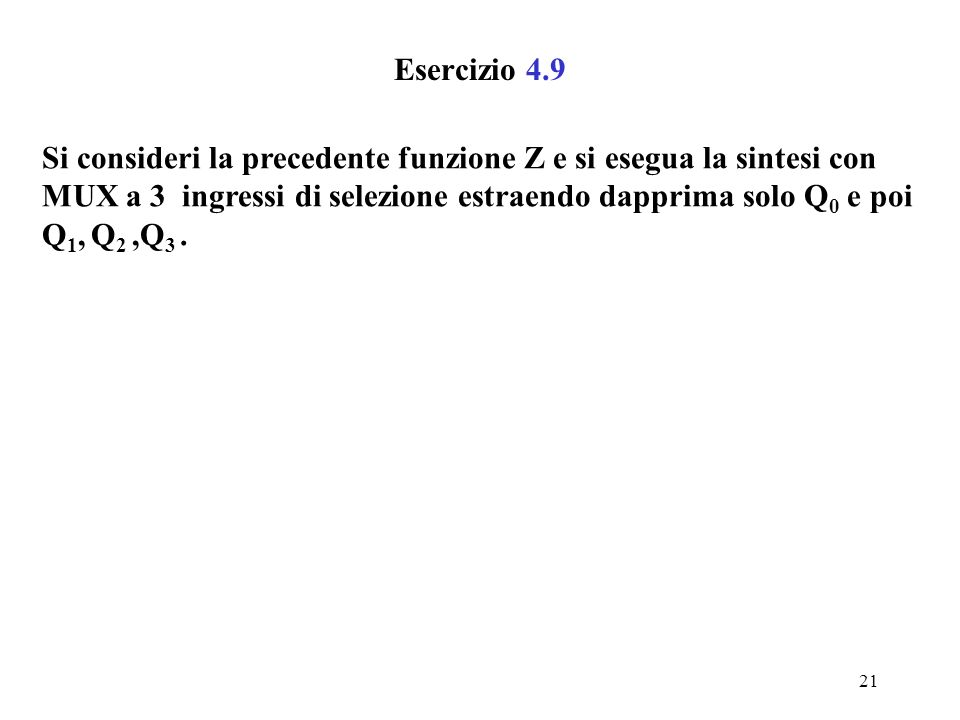 Esercizio 4.9