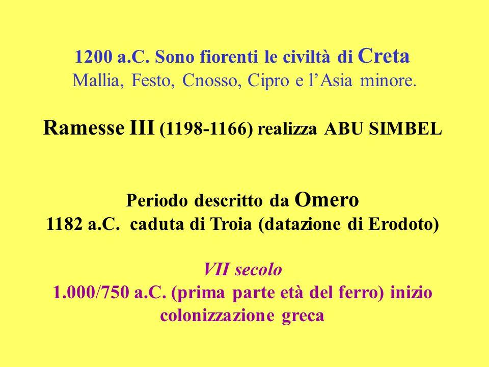 Ramesse III (1198-1166) realizza ABU SIMBEL