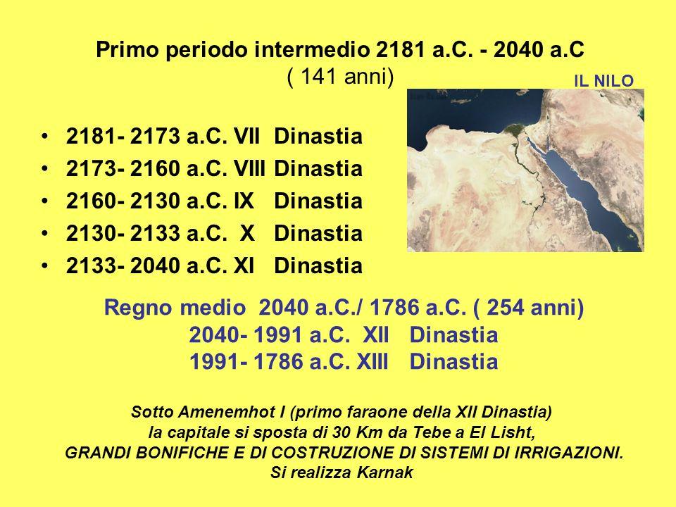 Primo periodo intermedio 2181 a.C. - 2040 a.C ( 141 anni)