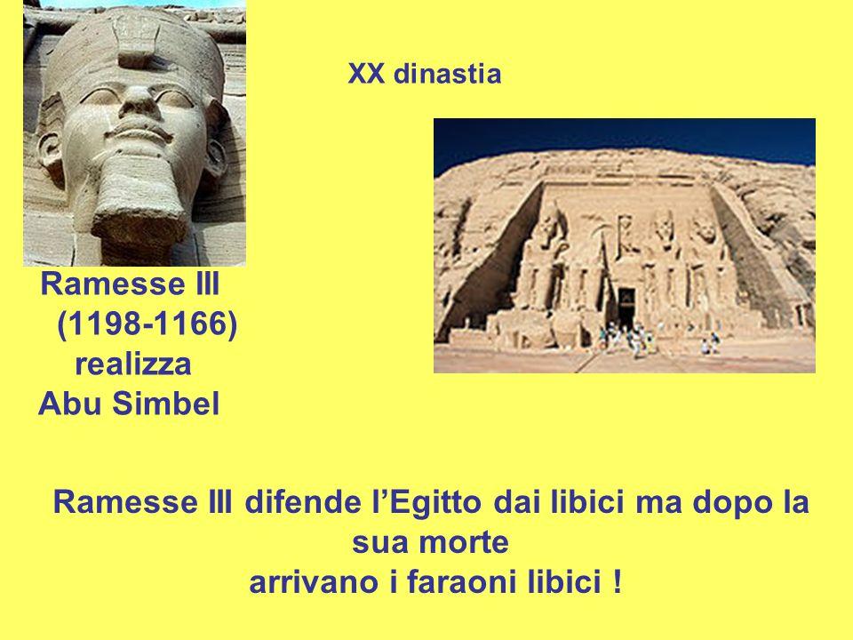 Ramesse III difende l'Egitto dai libici ma dopo la sua morte