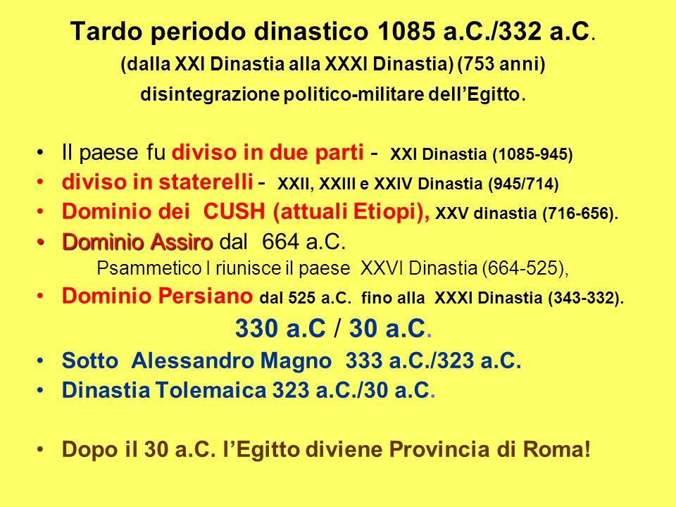 Tardo periodo dinastico 1085 a.C./332 a.C.