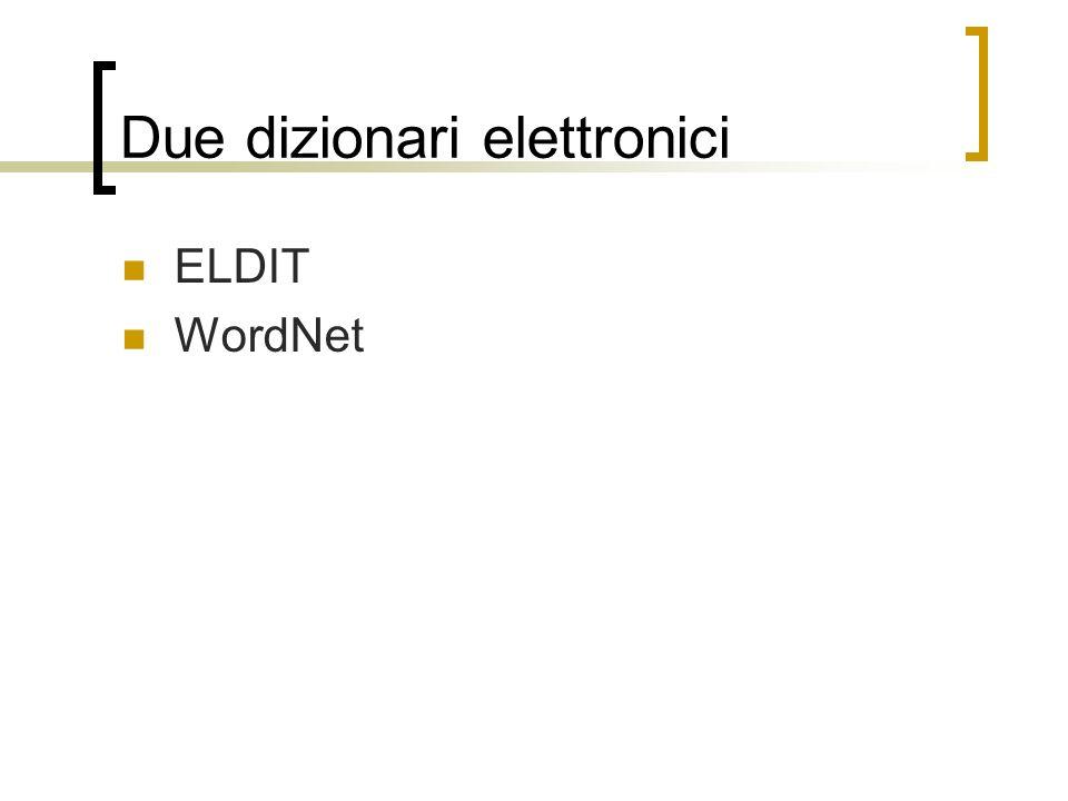 Due dizionari elettronici