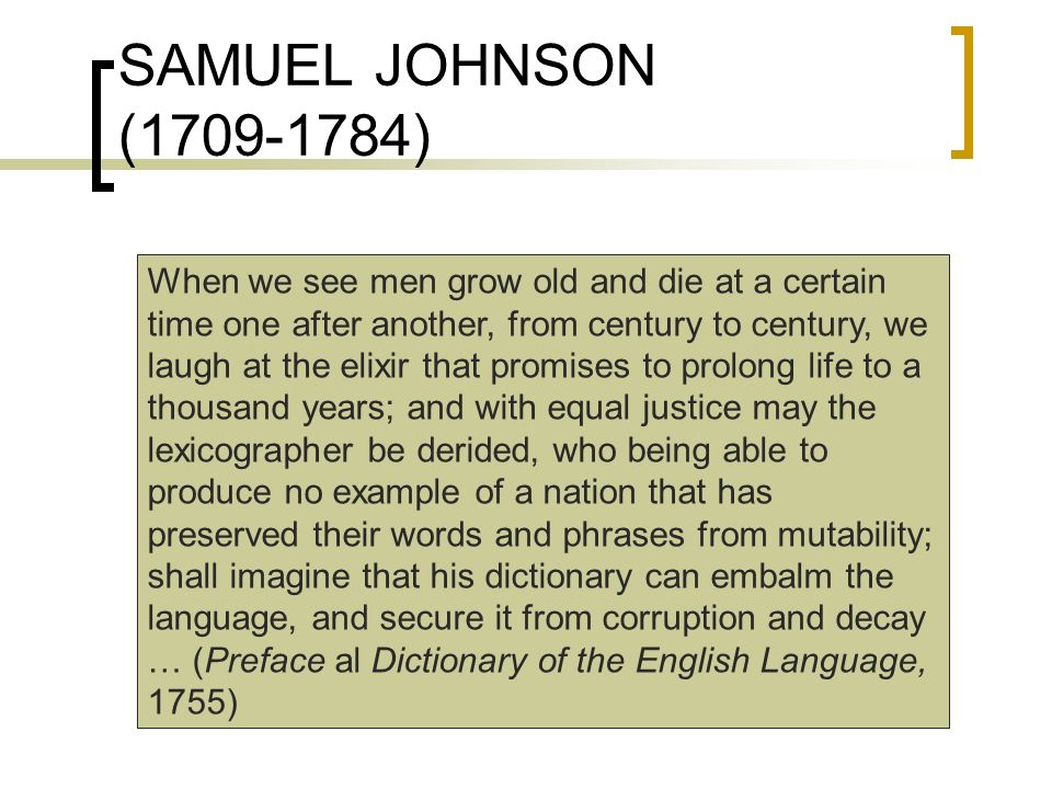SAMUEL JOHNSON (1709-1784)
