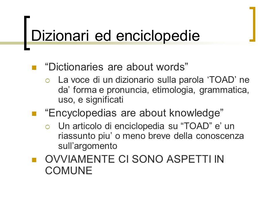 Dizionari ed enciclopedie
