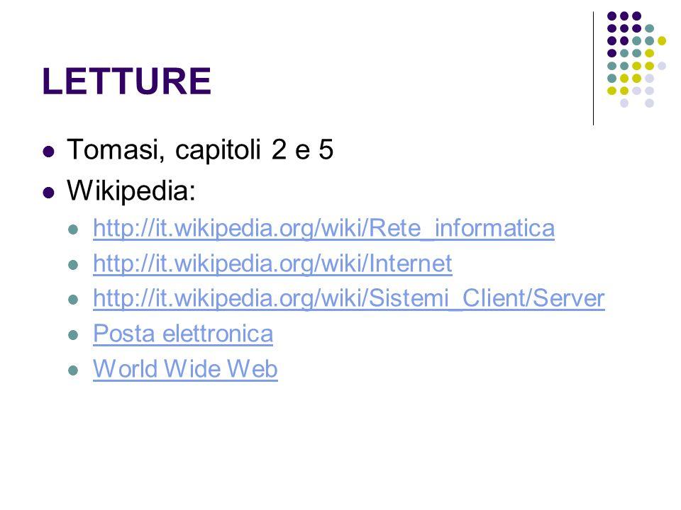 LETTURE Tomasi, capitoli 2 e 5 Wikipedia: