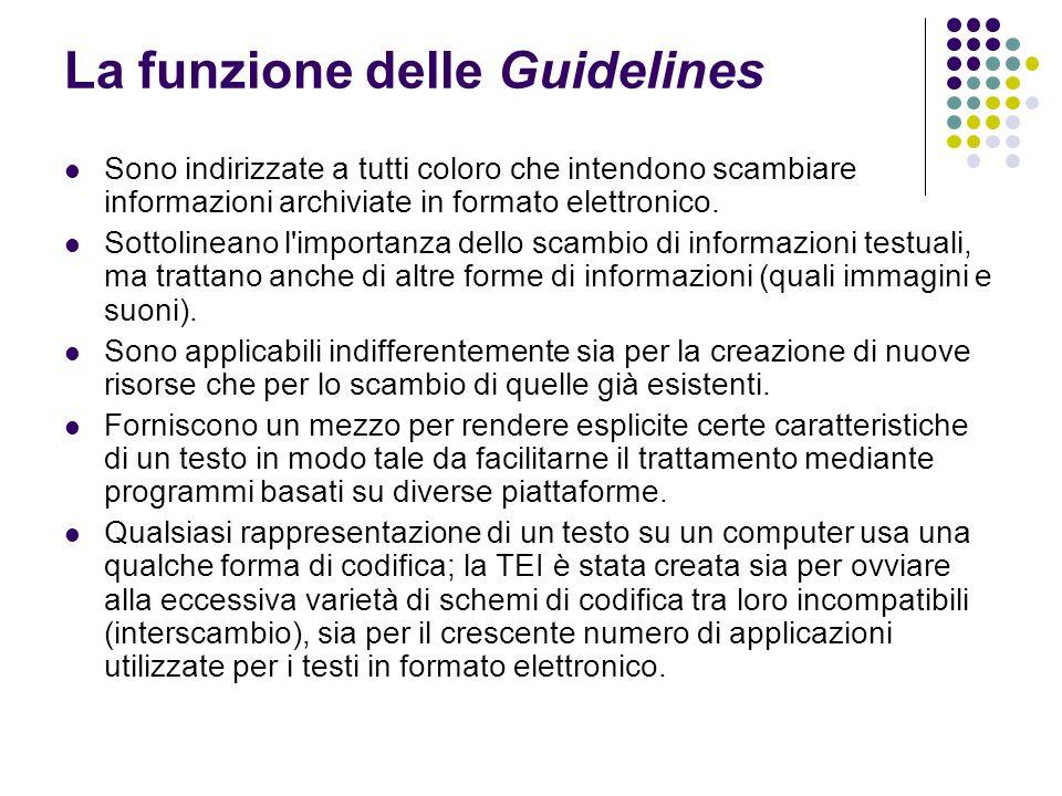 La funzione delle Guidelines