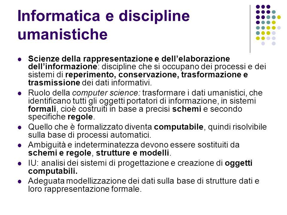 Informatica e discipline umanistiche