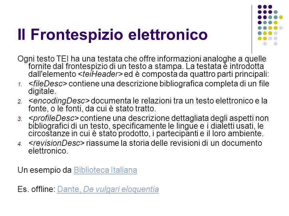 Il Frontespizio elettronico
