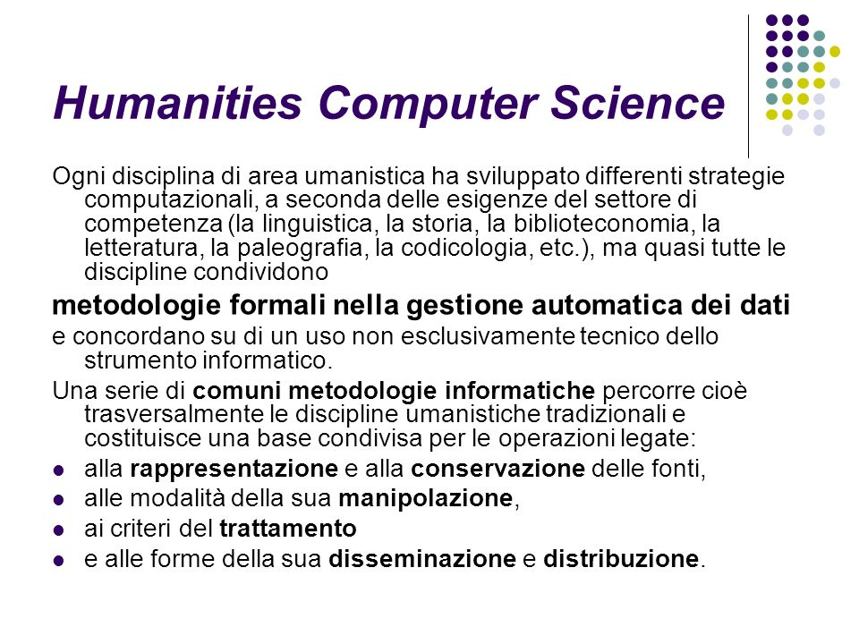 Humanities Computer Science