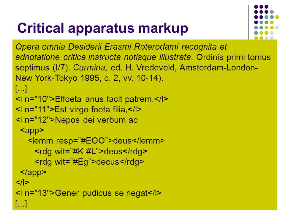 Critical apparatus markup