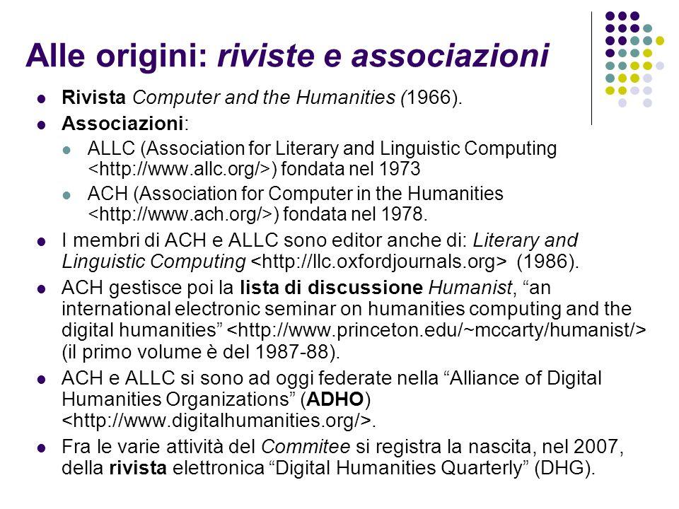 Alle origini: riviste e associazioni