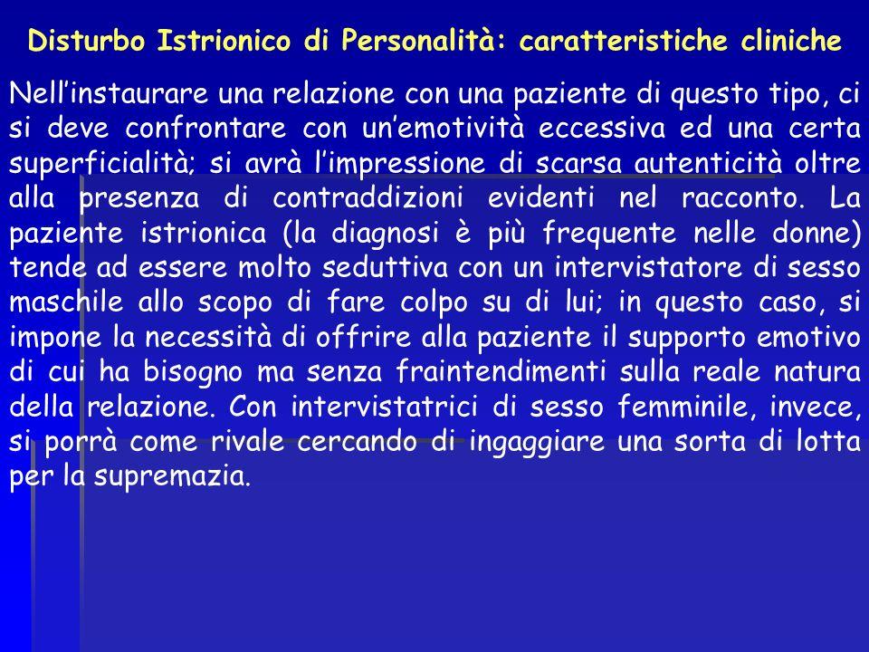 Disturbo Istrionico di Personalità: caratteristiche cliniche