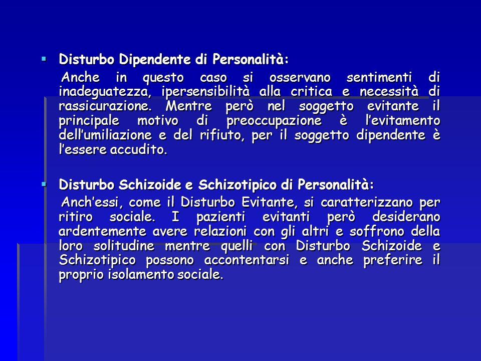 Disturbo Dipendente di Personalità: