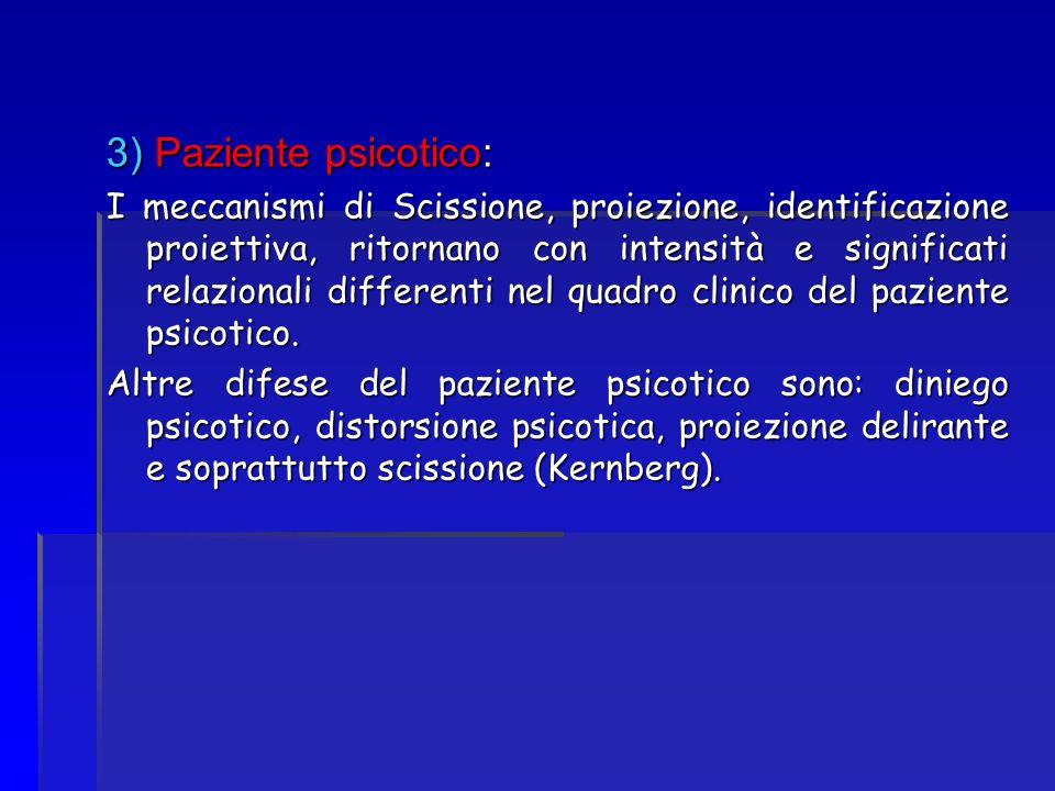 3) Paziente psicotico: