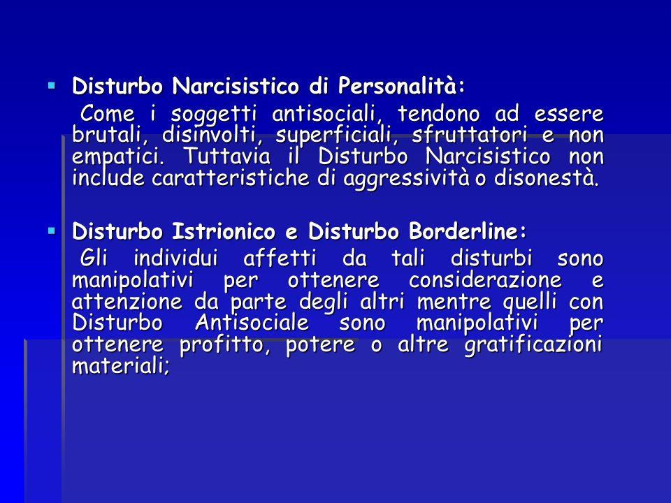 Disturbo Narcisistico di Personalità: