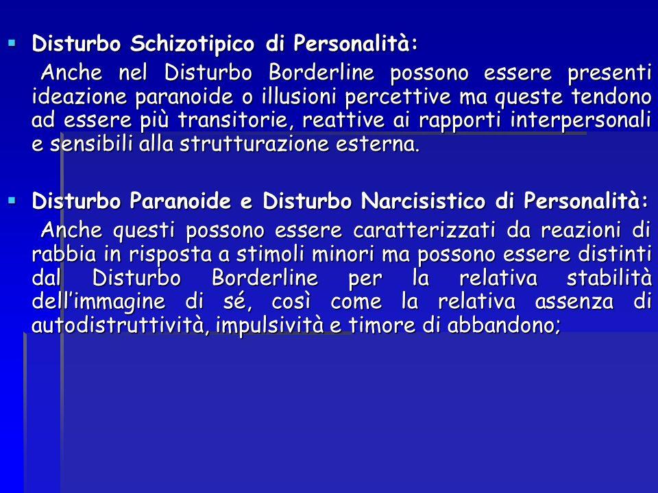 Disturbo Schizotipico di Personalità: