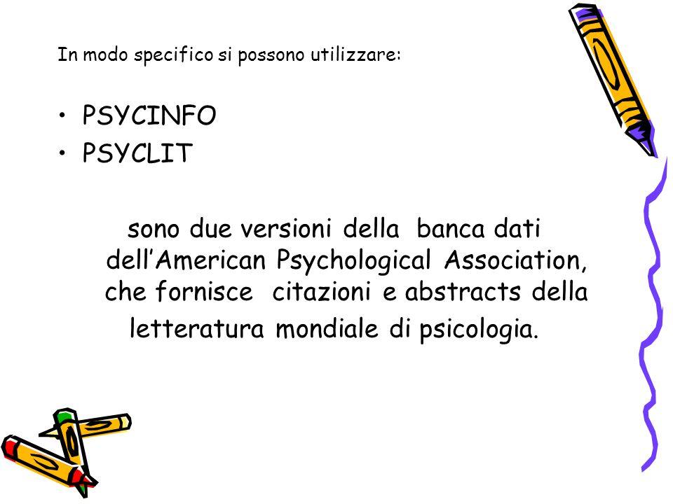 letteratura mondiale di psicologia.