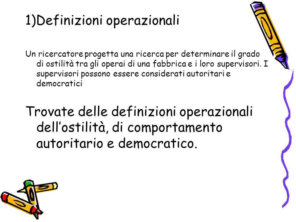 1)Definizioni operazionali