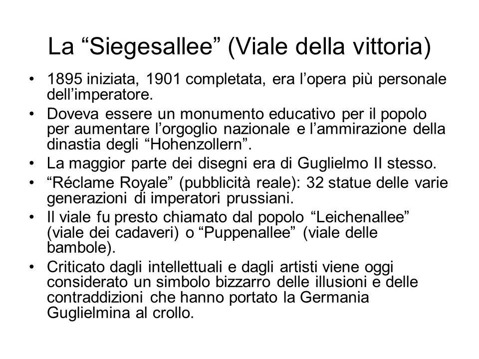 La Siegesallee (Viale della vittoria)