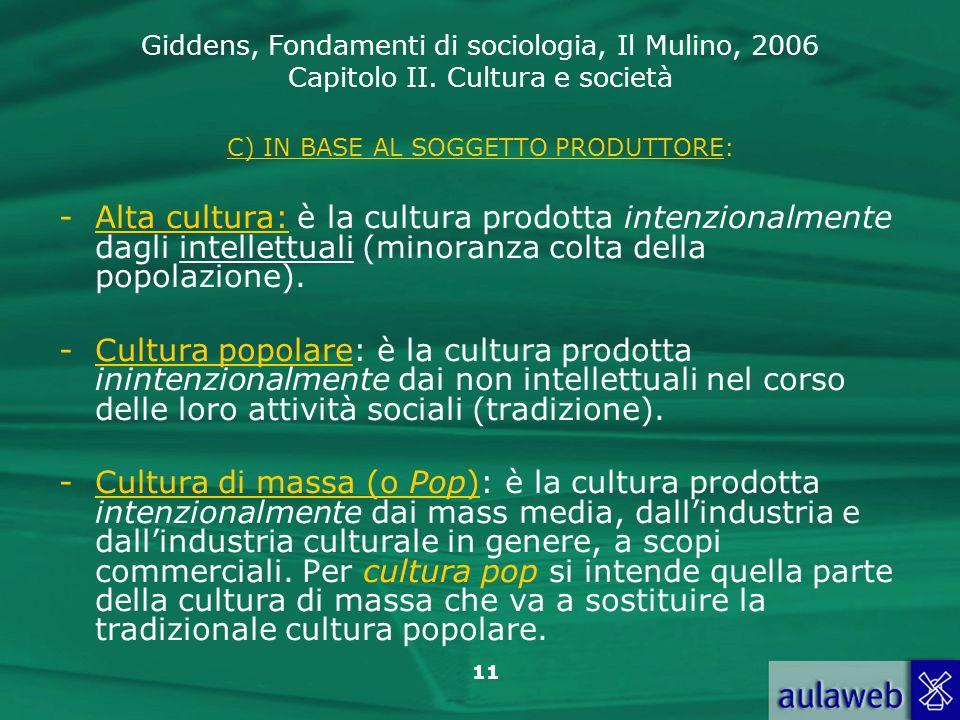 C) IN BASE AL SOGGETTO PRODUTTORE: