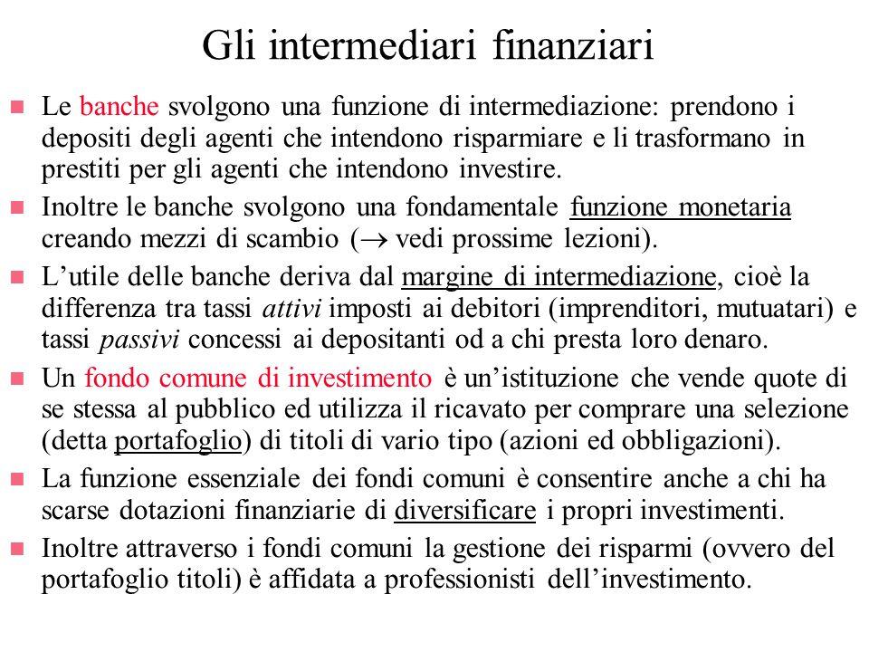 Gli intermediari finanziari