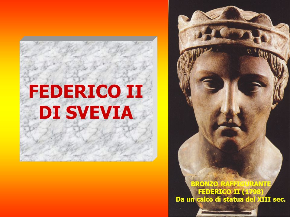 FEDERICO II DI SVEVIA BRONZO RAFFIGURANTE FEDERICO II (1798)