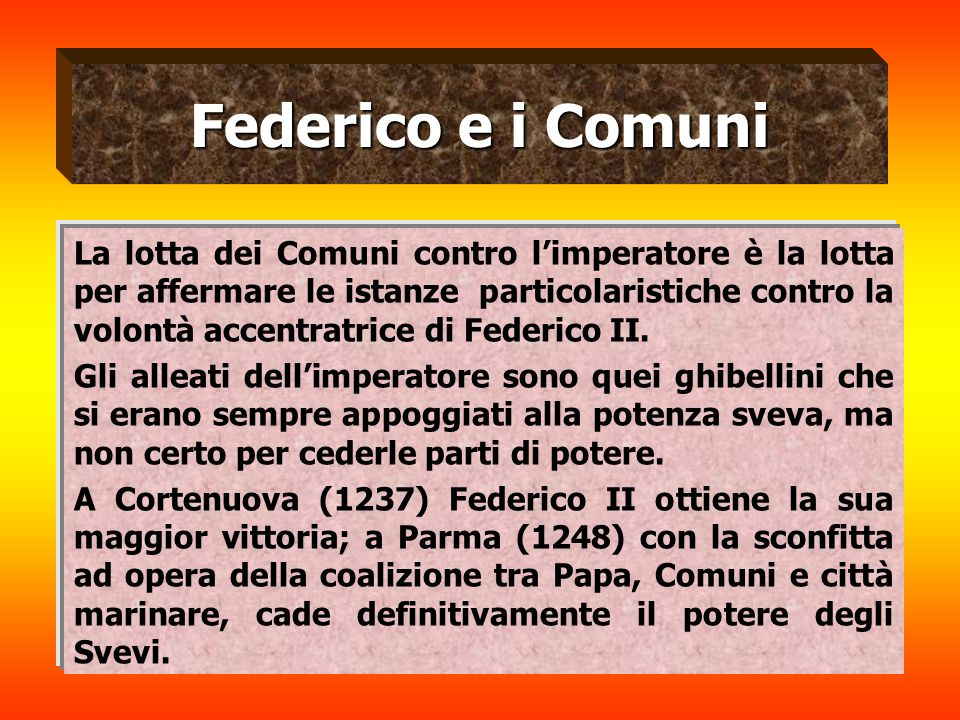Federico e i Comuni