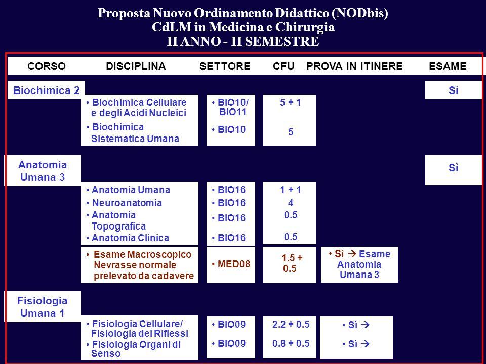 Proposta Nuovo Ordinamento Didattico (NODbis)