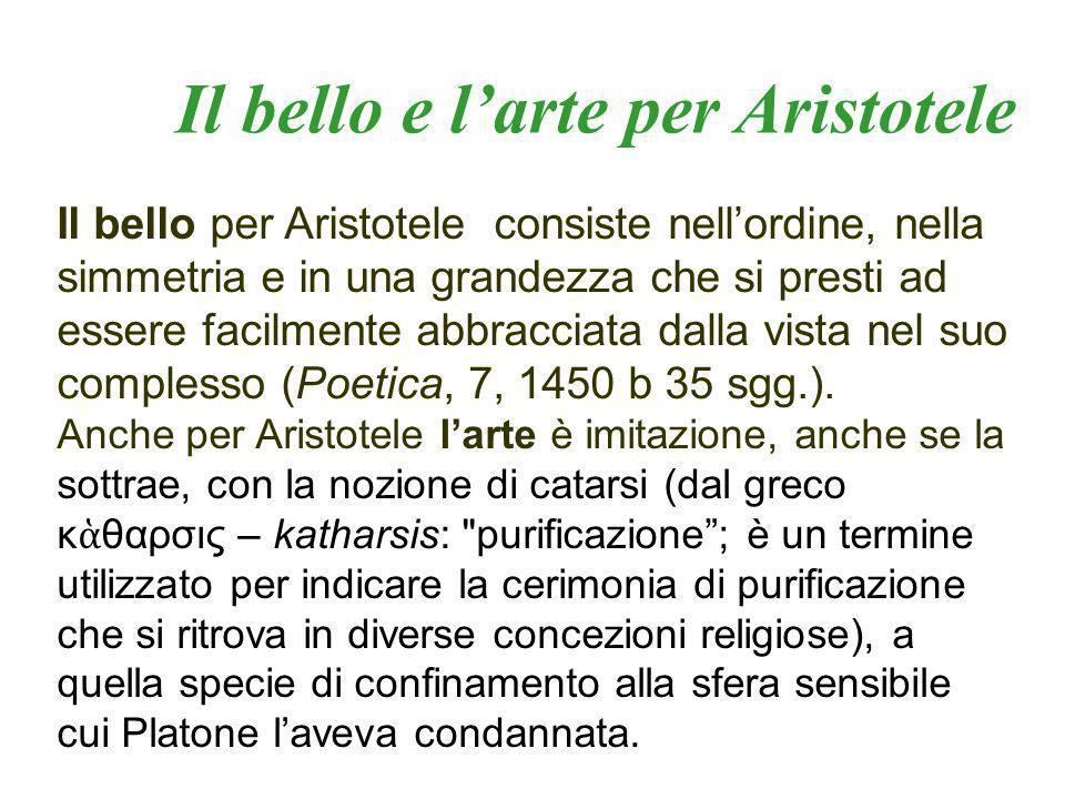 Il bello e l'arte per Aristotele