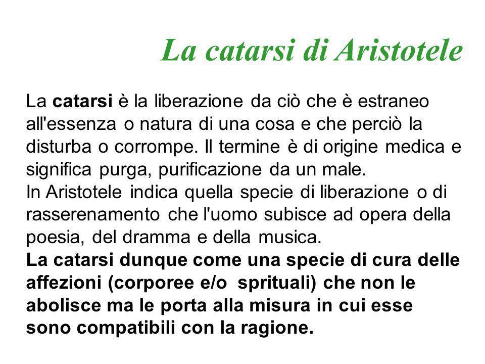 La catarsi di Aristotele
