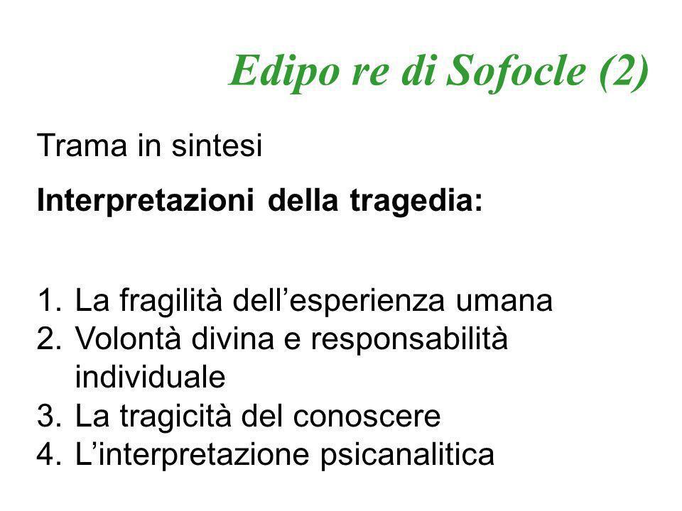 Edipo re di Sofocle (2) Trama in sintesi