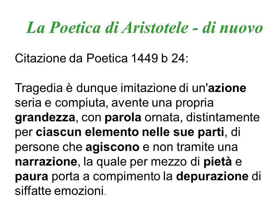La Poetica di Aristotele - di nuovo