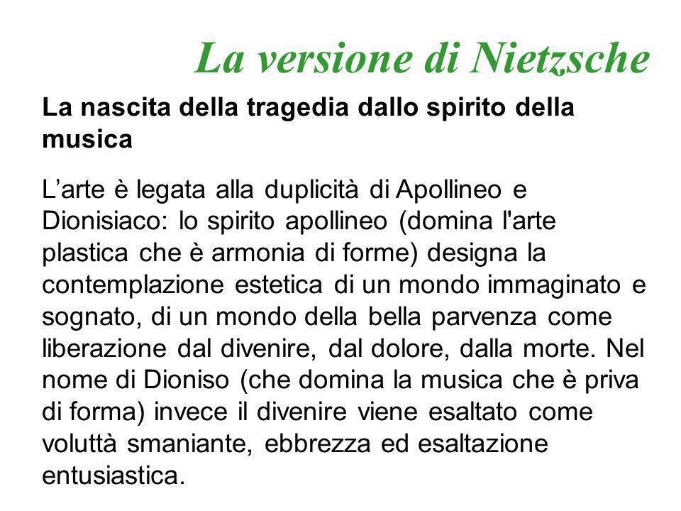 La versione di Nietzsche