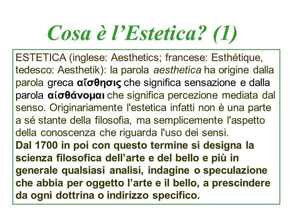 Cosa è l'Estetica (1)