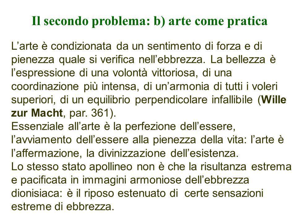 Il secondo problema: b) arte come pratica