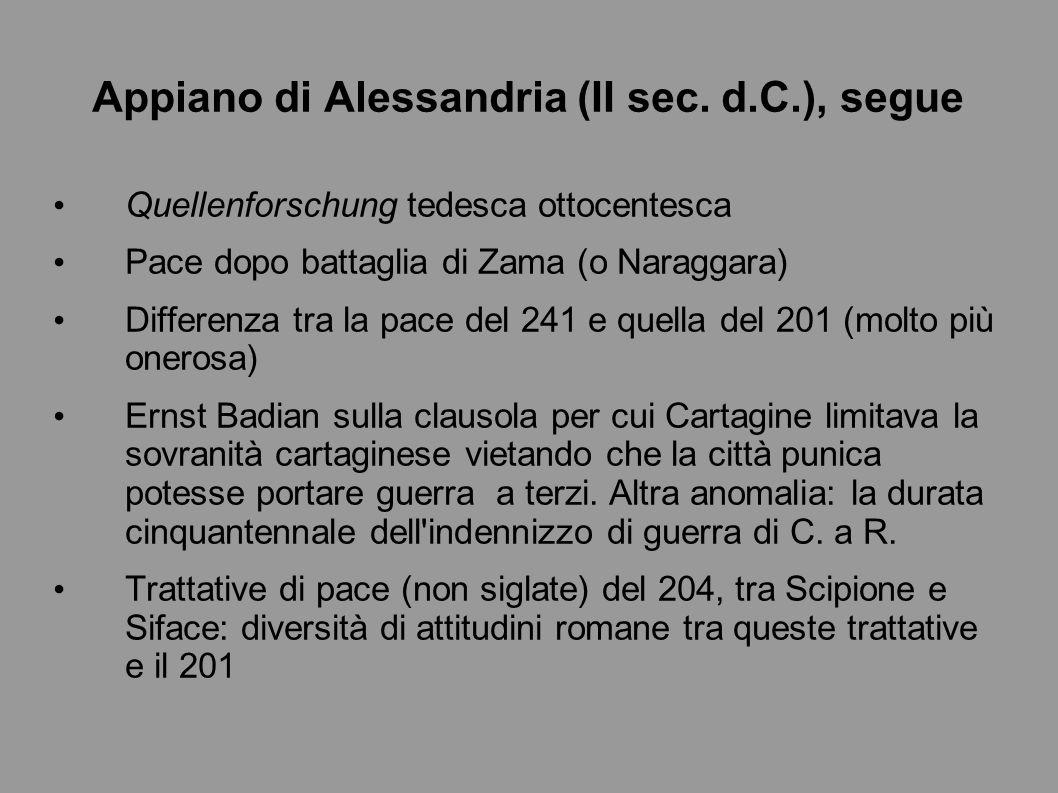 Appiano di Alessandria (II sec. d.C.), segue