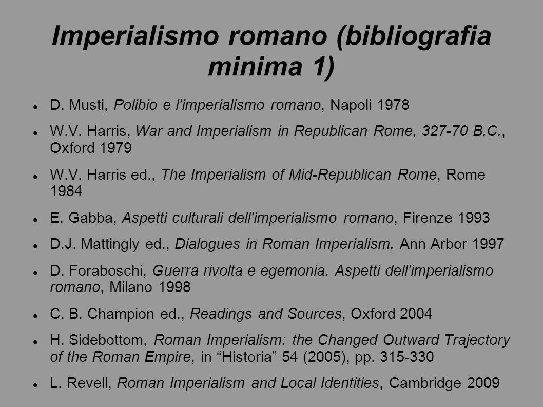 Imperialismo romano (bibliografia minima 1)