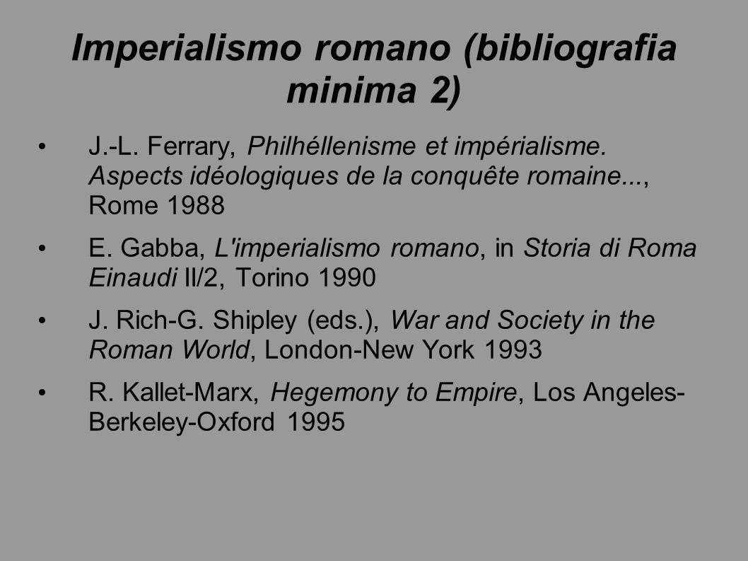 Imperialismo romano (bibliografia minima 2)
