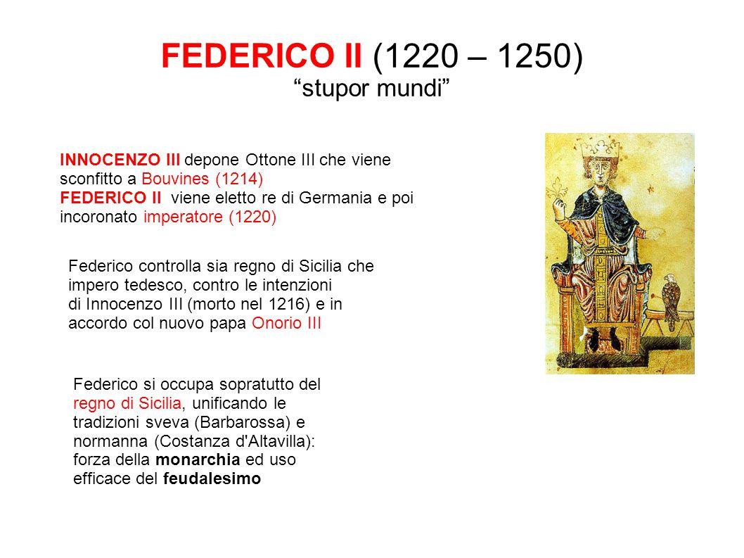 FEDERICO II (1220 – 1250) stupor mundi