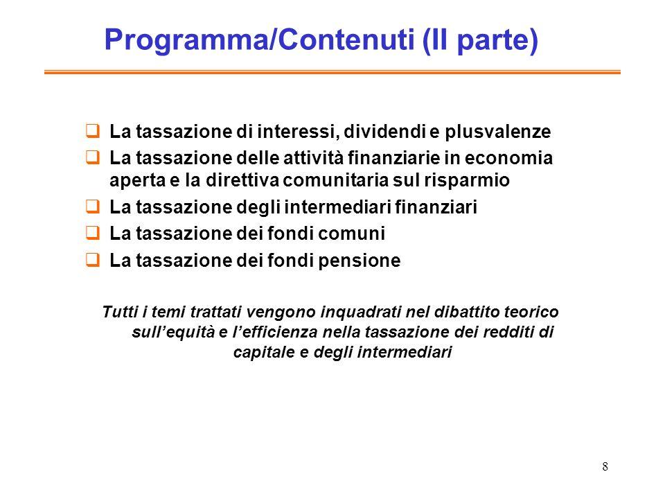 Programma/Contenuti (II parte)