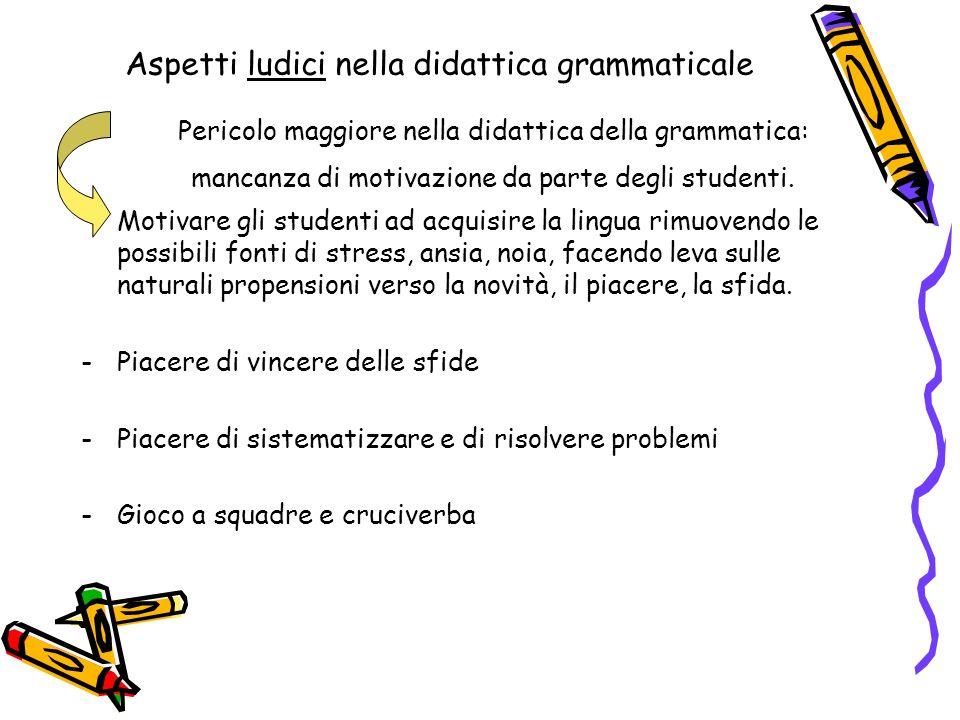 Aspetti ludici nella didattica grammaticale